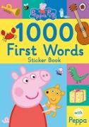 Cover-Bild zu Peppa Pig: Peppa Pig: 1000 First Words Sticker Book