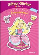Cover-Bild zu Schmidt, Sandra (Illustr.): Glitzer-Sticker Malbuch. Prinzessinnen