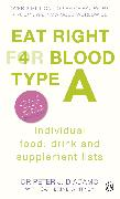 Cover-Bild zu Eat Right for Blood Type A (eBook) von D'Adamo, Peter J.