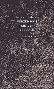Cover-Bild zu Schalansky, Judith: Verzeichnis einiger Verluste