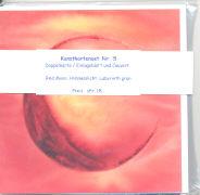 Cover-Bild zu Kunstkartenset Nr. 5. Red moon, Himmelslicht, Labyrinth grün von Würmli, Ursina