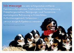 Cover-Bild zu Postkarte Ich manage ein sehr erfolgreiches mittleres Familienunternehmen