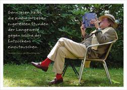 Cover-Bild zu Postkarte Gern lesen heißt, die einem Leben zugeteilten Stunden der Langeweile