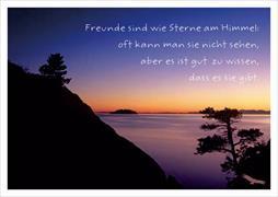 Cover-Bild zu Postkarte Freunde sind wie Sterne am Himmel