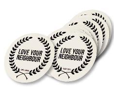 Cover-Bild zu Aufkleber, groß, Love your Neighbour, Durchmesser 15 cm