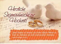 Cover-Bild zu Herzliche Segenswünsche zur Hochzeit! Zwei haben es besser als einer allein ... Pred. 4,9.11