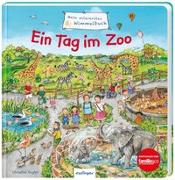 Cover-Bild zu Schumann, Sibylle: Mein allererstes Wimmelbuch: Ein Tag im Zoo