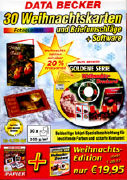 Cover-Bild zu Data Becker 30 Glückwunschkarten Weihnachtsedition inkl. Software