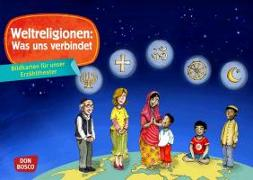 Cover-Bild zu Weltreligionen: Was uns verbindet. Kamishibai Bildkartenset von Hebert, Esther