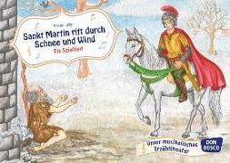 Cover-Bild zu Sankt Martin ritt durch Schnee und Wind von Luzán, Karina (Illustr.)