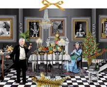 Cover-Bild zu Barbara Behr (Illustr.): Zettelkalender - Christmas Dinner for One