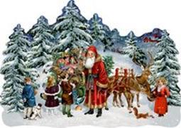 Cover-Bild zu Behr, Barbara (Illustr.): A3-Wandkalender - Schlitten im Winterwald