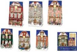Cover-Bild zu Behr, Barbara (Illustr.): 24 Adventskalender-Tüten - Nostalgische Weihnachtsstadt