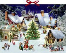 Cover-Bild zu Behr, Barbara (Illustr.): Wandkalender - Weihnachten im Dorf