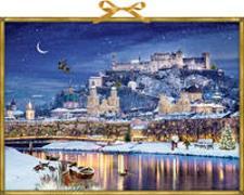 Cover-Bild zu Behr, Barbara (Illustr.): Wandkalender - Winterliches Stadtpanorama