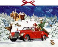 Cover-Bild zu Behr, Barbara (Illustr.): Wandkalender - Winterfahrt im Oldtimer