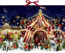 Cover-Bild zu Behr, Barbara (Illustr.): Wandkalender - Ein Besuch im Weihnachtszirkus