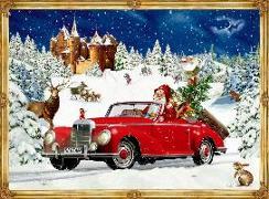 Cover-Bild zu Behr, Barbara (Illustr.): A4-Wandkalender - Winterfahrt im Oldtimer