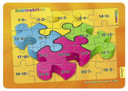 Cover-Bild zu Lernpuzzle - Subtraktion. Die Zahlen von 1-20