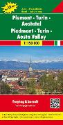 Cover-Bild zu Piemont - Turin - Aostatal, Autokarte 1:150.000, Top 10 Tips. 1:150'000 von Freytag-Berndt und Artaria KG (Hrsg.)