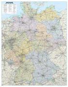 Cover-Bild zu Straßenkarte Deutschland als Poster. 1:700'000 von Garant Verlag (Hrsg.)