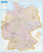 Cover-Bild zu Postleitzahlenkarte Deutschland als Poster, mit Leisten. 1:700'000 von Garant Verlag (Hrsg.)