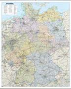 Cover-Bild zu Straßenkarte Deutschland als Poster, mit Leisten. 1:700'000 von Garant Verlag (Hrsg.)