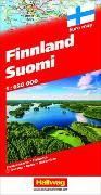 Cover-Bild zu Finnland Suomi Strassenkarte 1:650 000. 1:650'000 von Hallwag Kümmerly+Frey AG (Hrsg.)