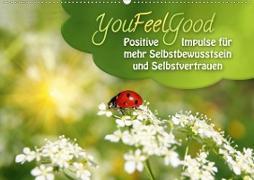 Cover-Bild zu YouFeelGood - Positive Impulse für mehr Selbstbewusstsein und Selbstvertrauen (Wandkalender 2021 DIN A2 quer) von Shayana Hoffmann, Gaby