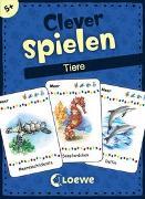 Cover-Bild zu Clever spielen - Tiere von Loewe Lernen und Rätseln (Hrsg.)
