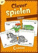 Cover-Bild zu Clever spielen - Silben von Loewe Lernen und Rätseln (Hrsg.)