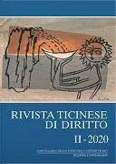 Cover-Bild zu Borghi, Marco (Hrsg.): Rivista ticinese di diritto II-2020