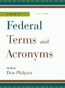 Cover-Bild zu A Guide to Federal Terms and Acronyms (eBook) von Philpott, Don (Hrsg.)