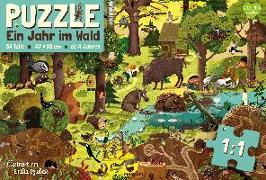 Cover-Bild zu Dziubak, Emilia (Illustr.): Ein Jahr im Wald - Puzzle