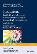 Cover-Bild zu Inklusion: Profile für die Schul- und Unterrichtsentwicklung in Deutschland, Österreich und der Schweiz von Lütje-Klose, Birgit (Hrsg.)