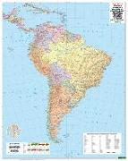 Cover-Bild zu Südamerika Politisch, 1:8 Mio., Poster. 1:8'000'000