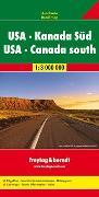 Cover-Bild zu USA - Kanada Süd, Autokarte 1:3.000.000. 1:3'000'000