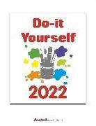 Cover-Bild zu Alpha Edition (Hrsg.): Do-it Yourself weiß 2022 - Wandkalender - Bastelkalender - DIY-Kalender - 24x31
