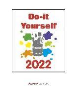Cover-Bild zu Alpha Edition (Hrsg.): Do-it Yourself weiß 2022 - Bastelkalender - Wandkalender - DIY-Kalender - 21x24