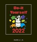 Cover-Bild zu Alpha Edition (Hrsg.): Do-it Yourself schwarz 2022 - Bastelkalender - DIY - 21x24
