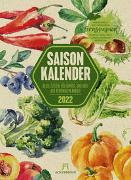 Cover-Bild zu Ackermann Kunstverlag (Hrsg.): Saisonkalender - Obst & Gemüse - Graspapier-Kalender 2022