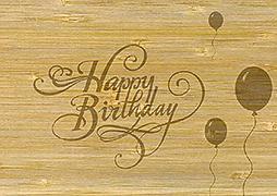 Cover-Bild zu PK Bambus Wishes108 happy birthday 11425009