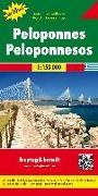 Cover-Bild zu Freytag-Berndt und Artaria KG (Hrsg.): Peloponnes, Autokarte 1:150.000, Top 10 Tips. 1:150'000