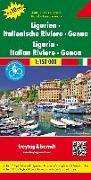 Cover-Bild zu Freytag-Berndt und Artaria KG (Hrsg.): Ligurien - Italienische Riviera - Genua, Autokarte 1:150.000, Top 10 Tips. 1:150'000