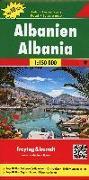 Cover-Bild zu Freytag-Berndt und Artaria KG (Hrsg.): Albanien, Autokarte 1:150.000, Top 10 Tips. 1:150'000