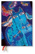 Cover-Bild zu 2020 Katzen in Blau mit Schmetterlingen Midi 12M. Horizontal