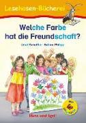 Cover-Bild zu Welche Farbe hat die Freundschaft? / Silbenhilfe von Scheffler, Ursel