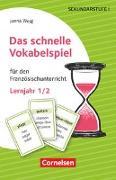 Cover-Bild zu Das schnelle Vokabelspiel, Französisch, Lernjahr 1/2, Für den Französischunterricht, 30 Lernkarten von Weiß, Janna