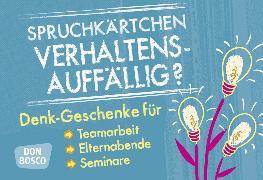 Cover-Bild zu Spruchkärtchen Verhaltensauffällig? von Pfreundner, Michael (Hrsg.)