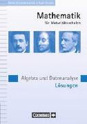 Cover-Bild zu Mathematik für Maturitätsschulen, Französischsprachige Schweiz, Algèbre et analyse de données, Solutions von Frommenwiler, Peter